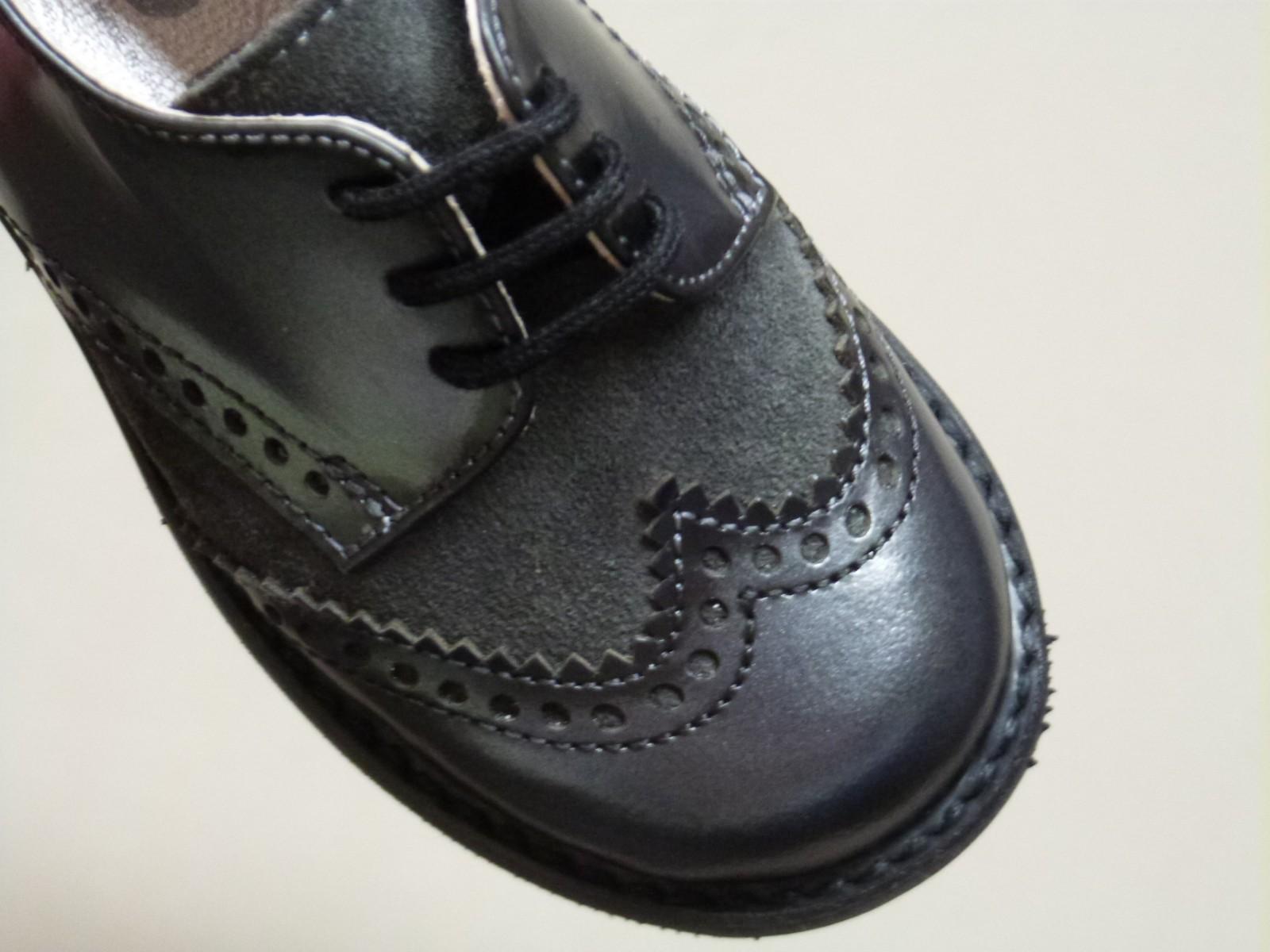zapatos oxford niñas piel kangurin