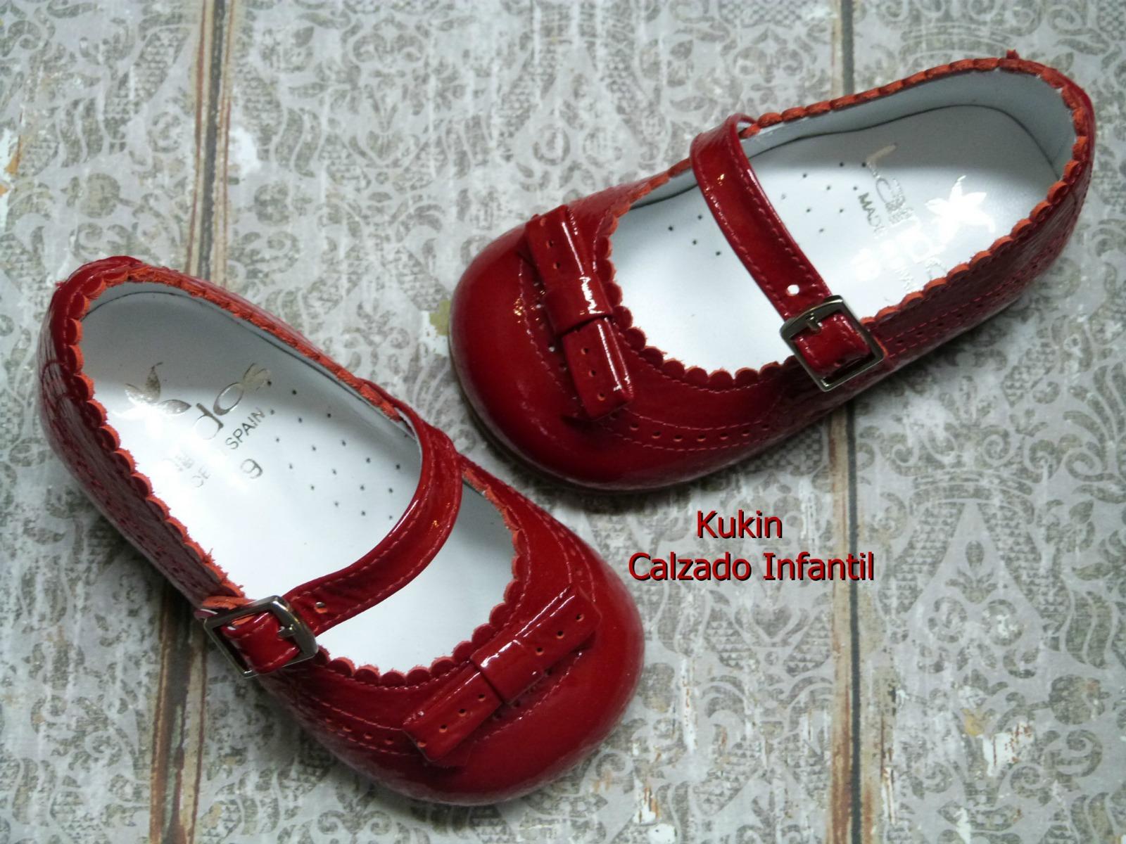 zapatos niña baratos charol rojo