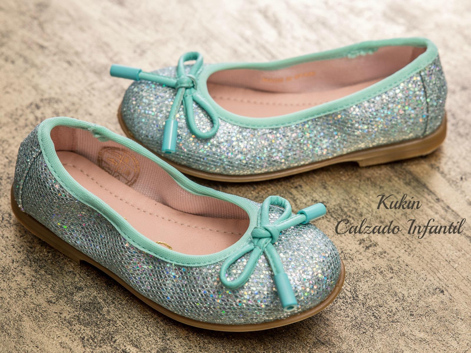 zapatos niña verde agua