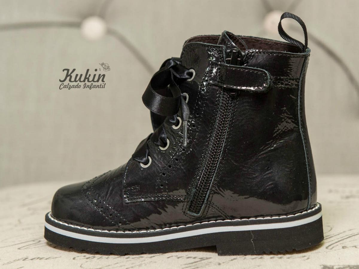 botas militares negras niña