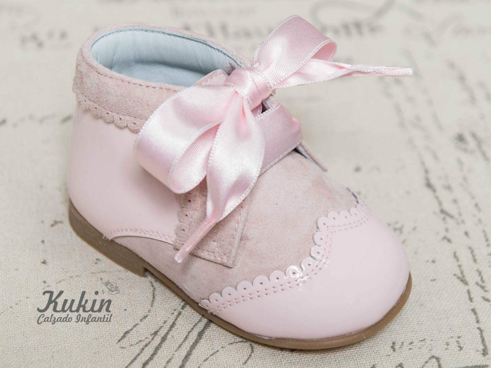 botas niña rosa