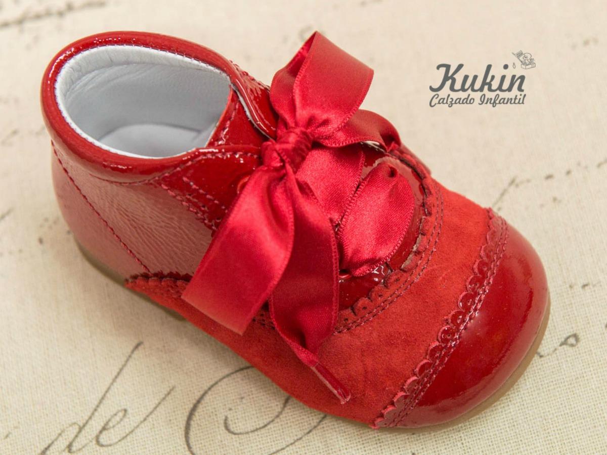 botas charol rojo