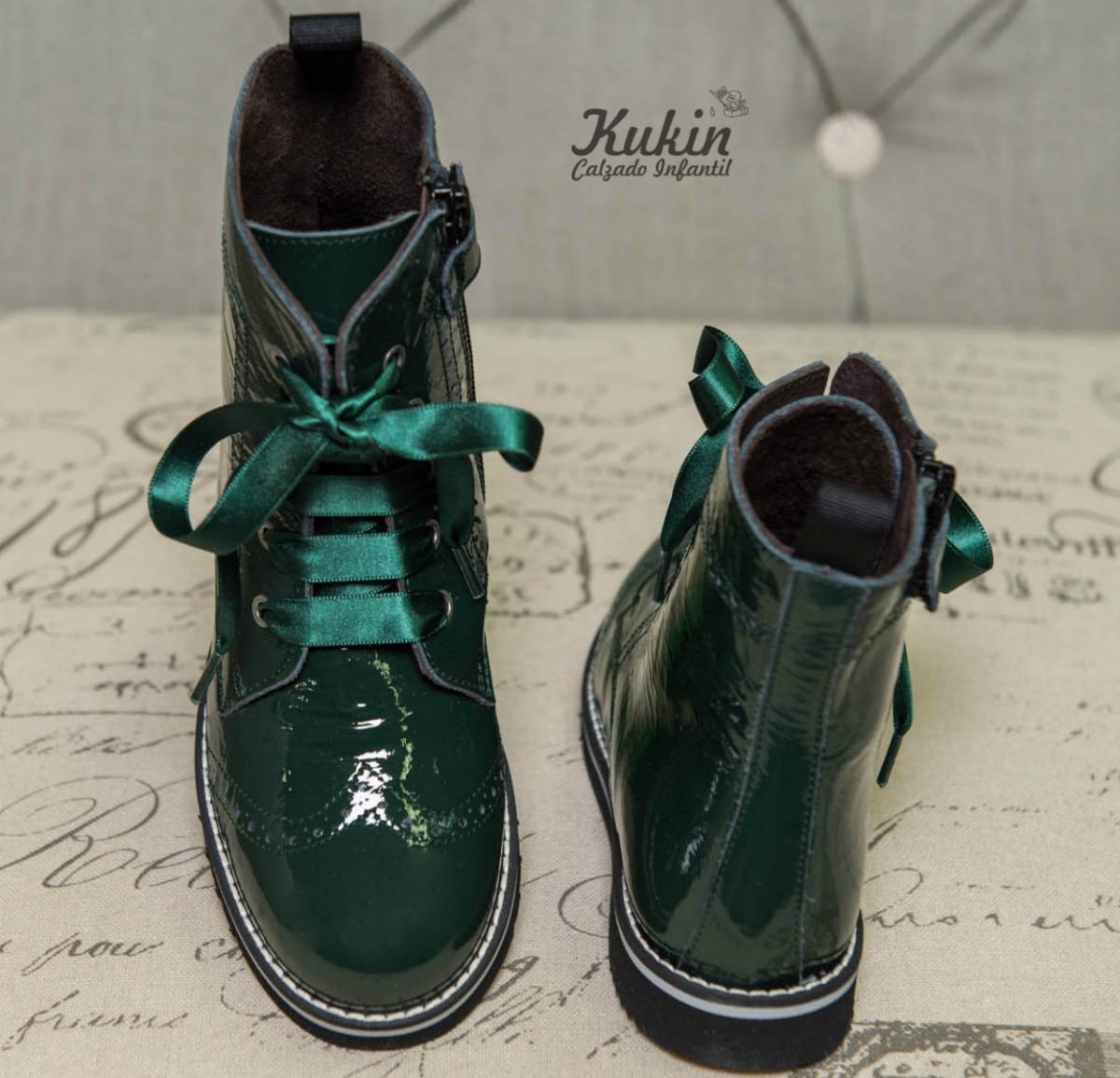 botas niña online verde botella