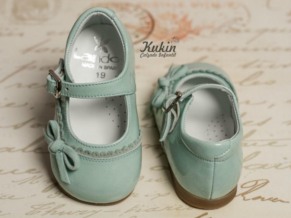 zapatos niña aguamarina