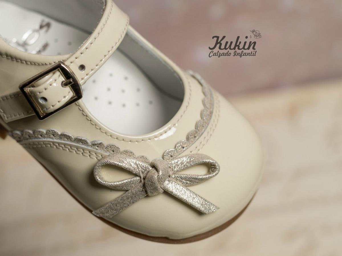 zapatos niña landos beige