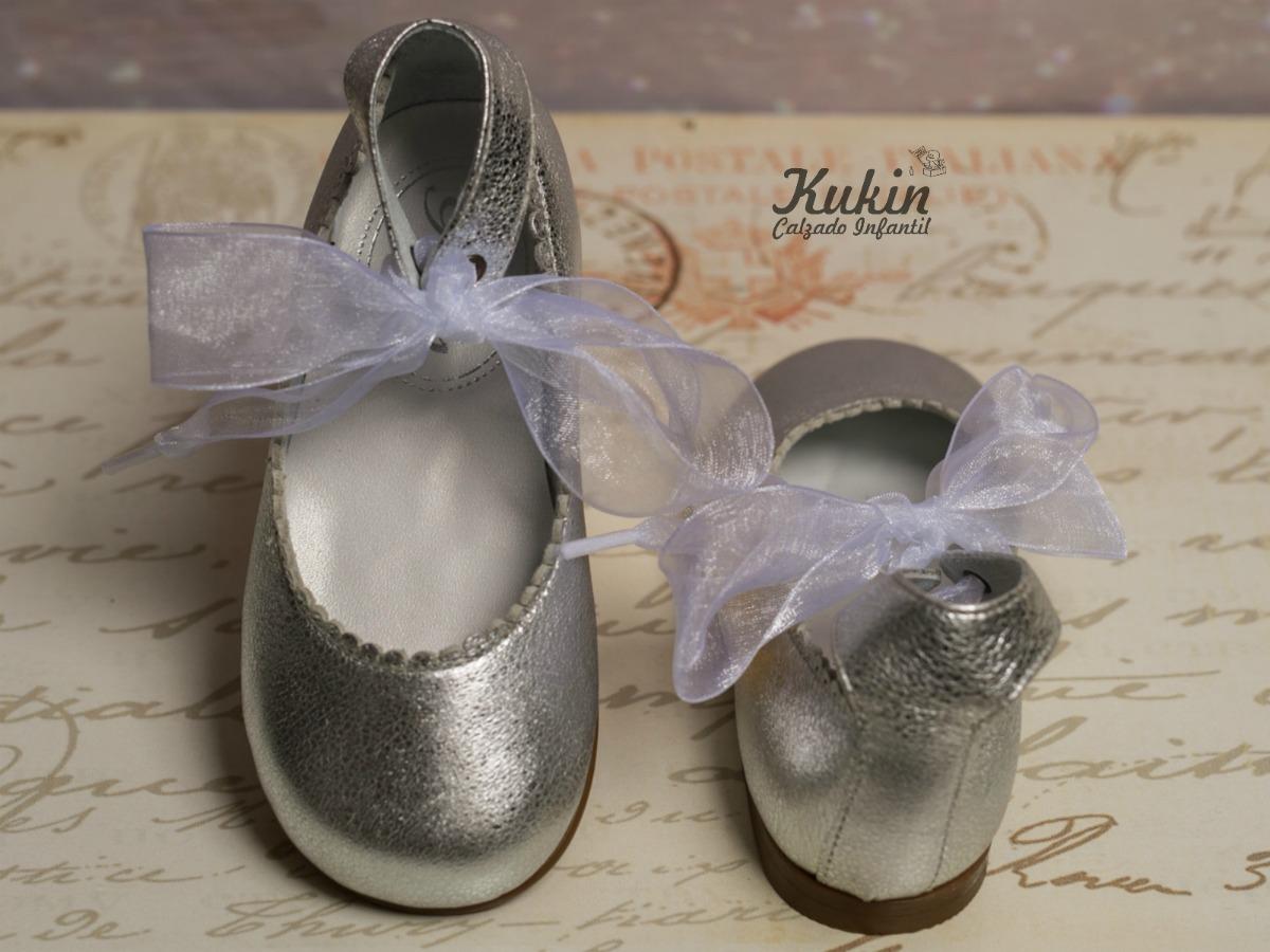 zapatos plata niña guxs