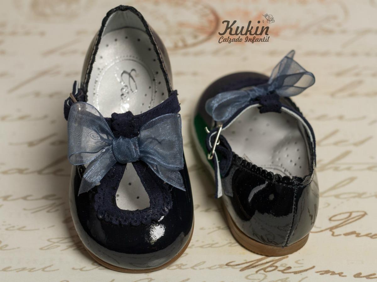 zapatos niña charol marino guxs
