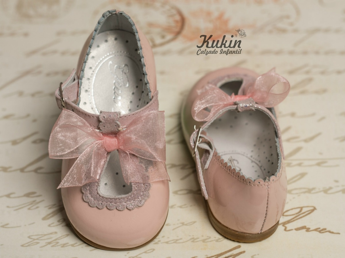zapatos niña charol rosa