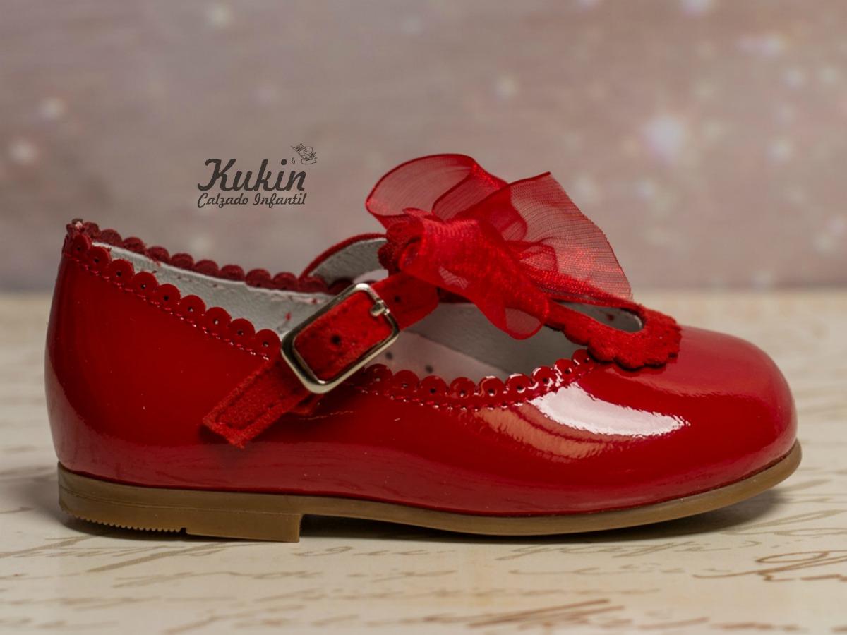 zapatos niña rojos guxs