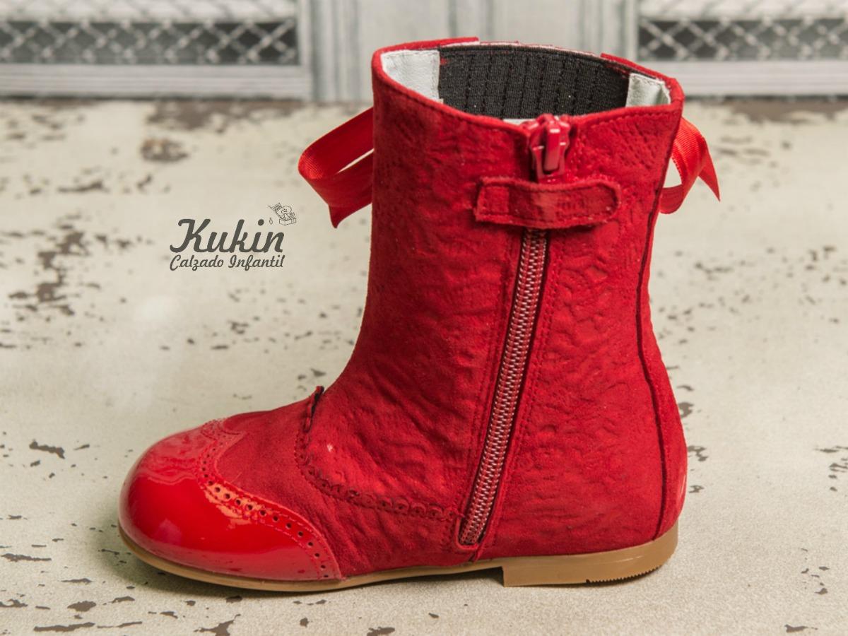 botas pascualas rojas