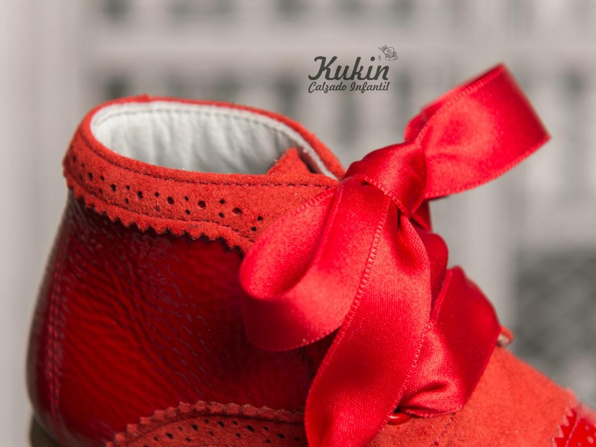 botas niña rojas